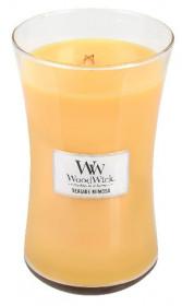 Aromatická svíčka váza, WoodWick Seaside Mimosa, hoření až 120 hod