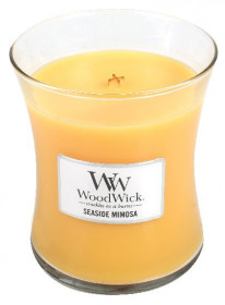 Aromatická svíčka váza, WoodWick Seaside Mimosa, hoření až 65 hod