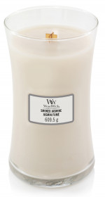 Aromatická svíčka váza, WoodWick Smoked Jasmine, hoření až 120 hod