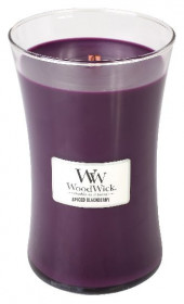Aromatická svíčka váza, WoodWick Spiced Blackberry, hoření až 120 hod