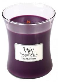 Aromatická svíčka váza, WoodWick Spiced Blackberry, hoření až 65 hod