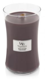 Aromatická svíčka váza, WoodWick Sueded Sandalwood, hoření až 120 hod