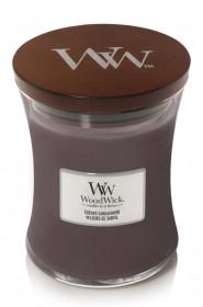 Aromatická svíčka váza, WoodWick Sueded Sandalwood, hoření až 65 hod