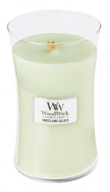 Aromatická svíčka váza, WoodWick Sweet Lime Gelato, hoření až 120 hod