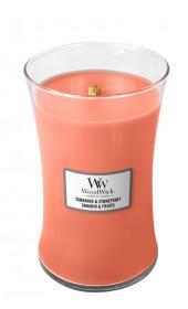 Aromatická svíčka váza, WoodWick Tamarind & Stonefruit, hoření až 120 hod