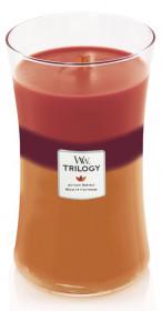 Aromatická svíčka váza, WoodWick Trilogy Autumn Harvest, hoření až 120 hod