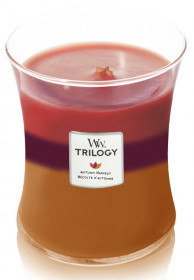Aromatická svíčka váza, WoodWick Trilogy Autumn Harvest, hoření až 65 hod