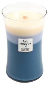 Aromatická svíčka váza, WoodWick Trilogy Beachfront Cottage, hoření až 120 hod