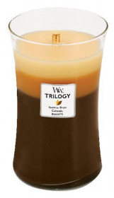 Aromatická svíčka váza, WoodWick Trilogy Café Sweets, hoření až 120 hod