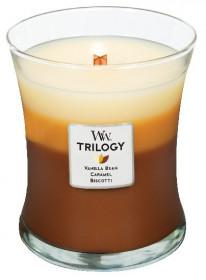 Aromatická svíčka váza, WoodWick Trilogy Café Sweets, hoření až 65 hod