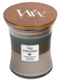 Aromatická svíčka váza, WoodWick Trilogy Cozy Cabin , hoření až 65 hod