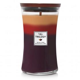 Aromatická svíčka váza, WoodWick Trilogy Holiday Cheer, hoření až 120 hod