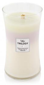 Aromatická svíčka váza, WoodWick Trilogy, hoření až 120 hod