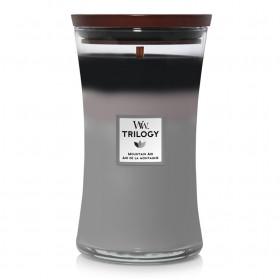 Aromatická svíčka váza, WoodWick Trilogy Mountain Air, hoření až 120 hod