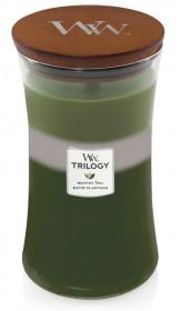Aromatická svíčka váza, WoodWick Trilogy Mountain Trail, hoření až 120 hod