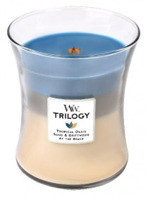 Aromatická svíčka váza, WoodWick Trilogy Nautical Escape, hoření až 65 hod