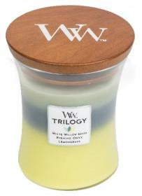 Aromatická svíčka váza, WoodWick Trilogy Woodland Trilogy, hoření až 65 hod