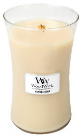 Aromatická svíčka váza, WoodWick Vanilla Bean, hoření až 120 hod