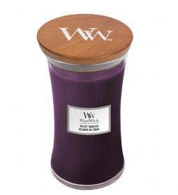 Aromatická svíčka váza, WoodWick Velvet Tobacco, hoření až 120 hod