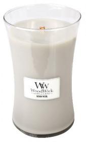 Aromatická svíčka váza, WoodWick Warm Wool, hoření až 120 hod