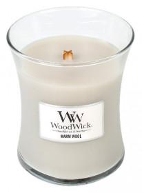 Aromatická svíčka váza, WoodWick Warm Wool, hoření až 65 hod