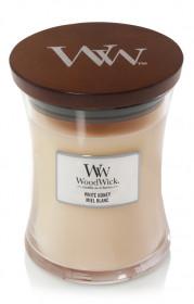 Aromatická svíčka váza, WoodWick White Honey, hoření až 65 hod