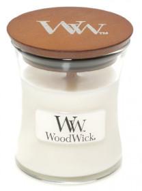 Aromatická svíčka váza, WoodWick White Teak, hoření až 30 hod