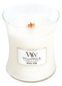 Aromatická svíčka váza, WoodWick White Teak, hoření až 65 hod