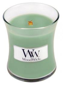 Aromatická svíčka váza, WoodWick White Willow Moss, hoření až 30 hod