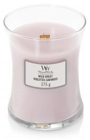 Aromatická svíčka váza, WoodWick Wild Violet, hoření až 65 hod
