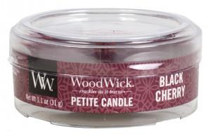 Aromatická svíčka, WoodWick Petite Black Cherry, hoření až 8 hod