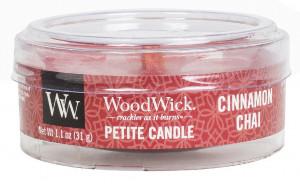 Aromatická svíčka, WoodWick Petite Cinnamon Chai, hoření až 8 hod