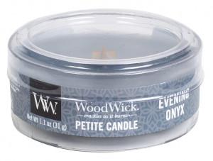 Aromatická svíčka, WoodWick Petite Evening Onyx, hoření až 8 hod