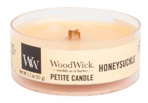 Aromatická svíčka, WoodWick Petite Honeysuckle, hoření až 8 hod
