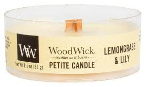 Aromatická svíčka, WoodWick Petite Lemongrass & Lily, hoření až 8 hod