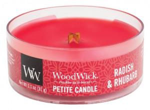 Aromatická svíčka, WoodWick Petite Radish and Rhubarb, hoření až 8 hod