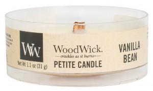 Aromatická svíčka, WoodWick Petite Vanilla Bean, hoření až 8 hod