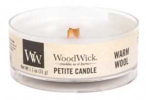 Aromatická svíčka, WoodWick Petite Warm Wool, hoření až 8 hod