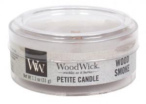 Aromatická svíčka, WoodWick Petite Wood Smoke, hoření až 8 hod