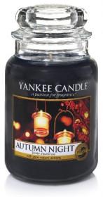Aromatická svíčka, Yankee Candle Autumn Night, hoření až 150 hod