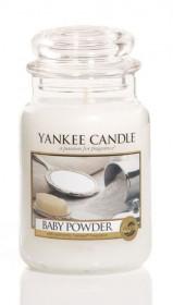 Aromatická svíčka, Yankee Candle Baby Powder, hoření až 150 hod