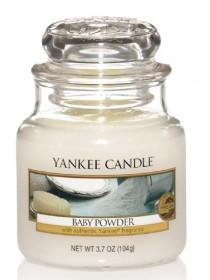 Aromatická svíčka, Yankee Candle Baby Powder, hoření až 30 hod