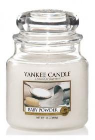 Aromatická svíčka, Yankee Candle Baby Powder, hoření až 75 hod