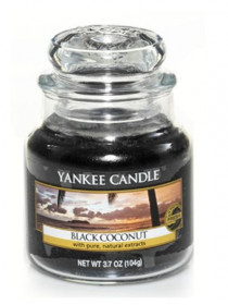 Aromatická svíčka, Yankee Candle Black Coconut, hoření až 30 hod