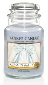 Aromatická svíčka, Yankee Candle Blue Satin Sashes, hoření až 150 hod