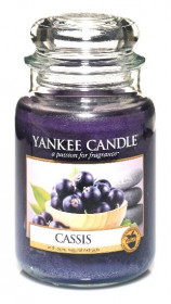 Aromatická svíčka, Yankee Candle Cassis, hoření až 150 hod