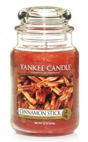 Aromatická svíčka, Yankee Candle Cinnamon Stick, hoření až 150 hod