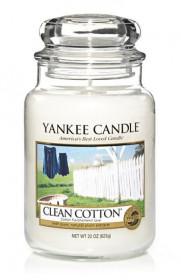 Aromatická svíčka, Yankee Candle Clean Cotton, doba hoření až 150 hod