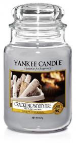 Aromatická svíčka, Yankee Candle Crackling Wood Fire, hoření až 150 hod