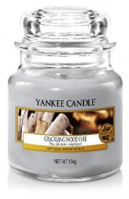 Aromatická svíčka, Yankee Candle Crackling Wood Fire, hoření až 30 hod